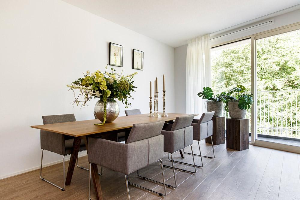 Modelwoning nieuw overbos heemstede huismetstijl - Eetkamer en woonkamer ...