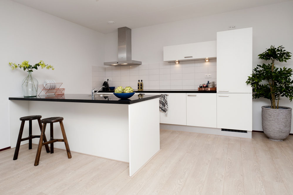 Tilburg huismetstijl - Lounge en keuken in dezelfde kamer ...
