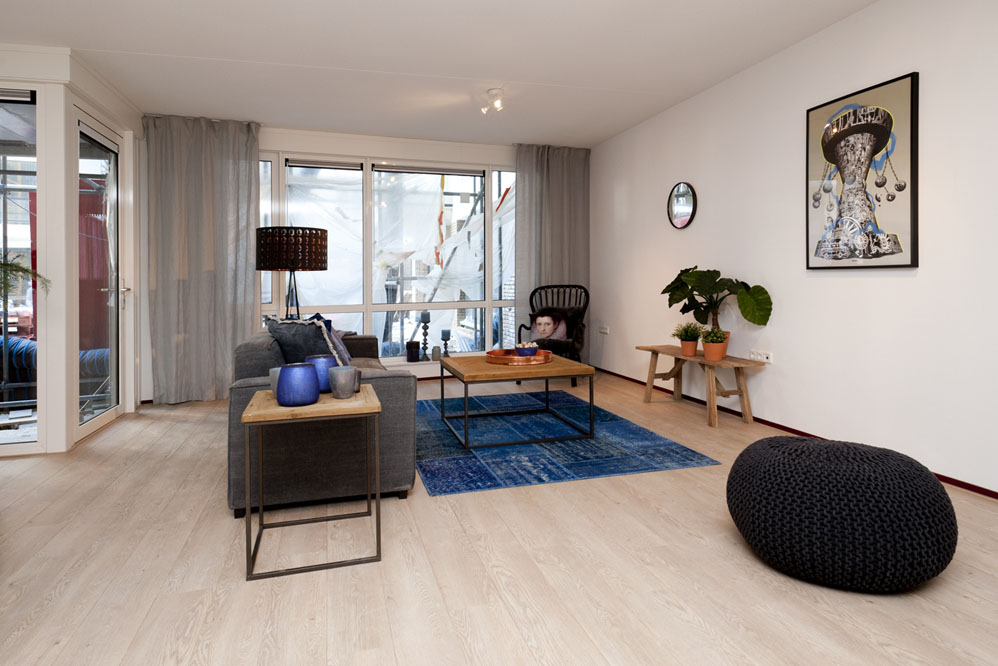 Modelwoningen woonkamer inrichten Tilburg